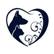 39447353 - dog cat love heart