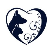 39447353 - dog cat love heart